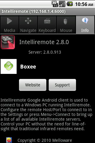 Intelliremote Android Info