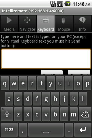 Intelliremote Android Keyboard