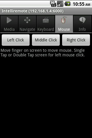 Intelliremote Android Mouse