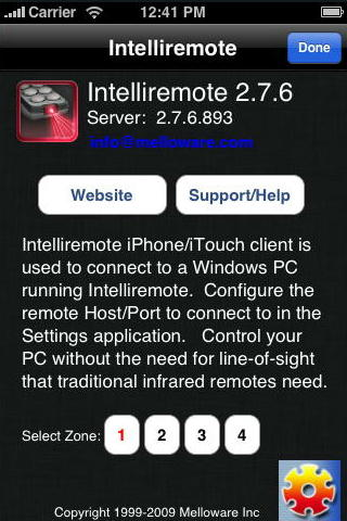 Intelliremote iOS Info