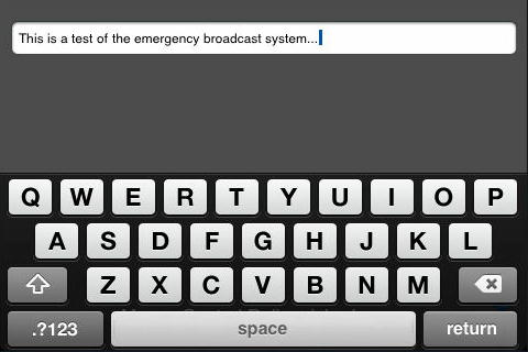 Intelliremote iOS Keyboard