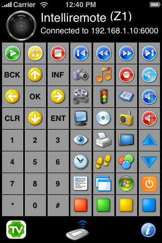 Intelliremote iPhone Main