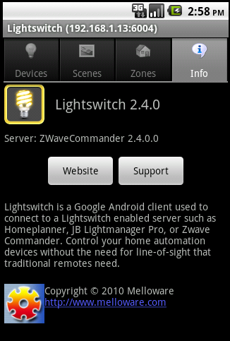 Lightswitch Android Info