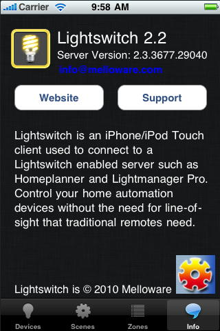 Lightswitch iOS Info