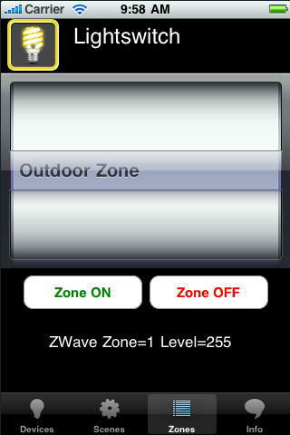 Lightswitch iOS Zones